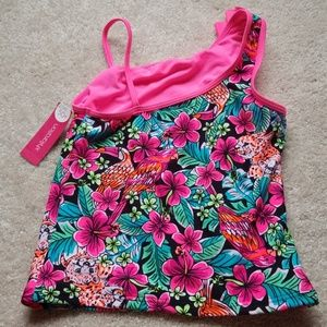 Xhilaration Swim - Girls floral design tankini